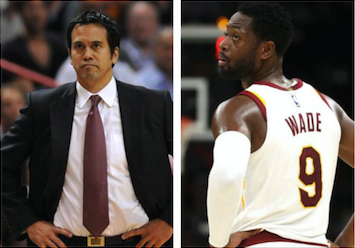 brand new 1d72a 1ef71 Erik Spoelstra Says He Hates Seeing Dwyane Wade in a Cavs ...